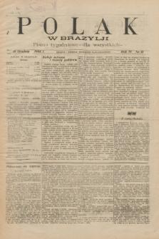 Polak w Brazylji : pismo tygodniowe dla wszystkich. R.4, nr 51 (18 grudnia 1908) + dod.