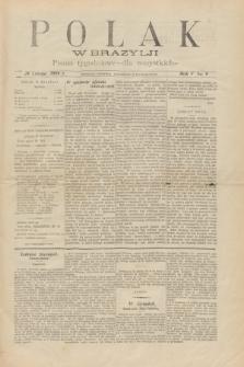 Polak w Brazylji : pismo tygodniowe dla wszystkich. R.5, nr 9 (26 lutego 1909) + dod.