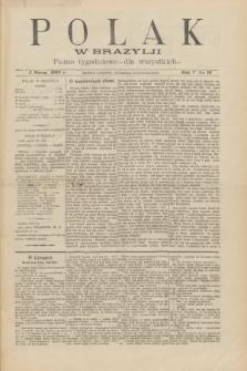 Polak w Brazylji : pismo tygodniowe dla wszystkich. R.5, nr 10 (5 marca 1909)