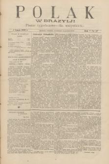 Polak w Brazylji : pismo tygodniowe dla wszystkich. R.5, nr 27 (2 lipca 1909) + dod.