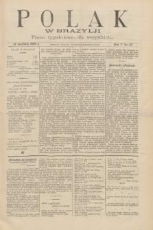 Polak w Brazylji : pismo tygodniowe dla wszystkich. R.5, nr 33 (13 sierpnia 1909) + dod.