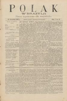 Polak w Brazylji : pismo tygodniowe dla wszystkich. R.5, nr 37 (10 września 1909) + dod.