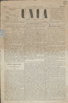 Unia. [R.1], nr 2 (16 września 1869)