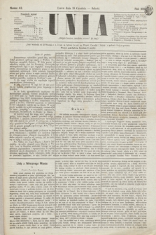 Unia. [R.1], nr 42 (18 grudnia 1869)