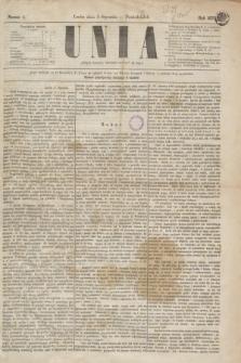 Unia. [R.2], nr 1 (3 stycznia 1870)