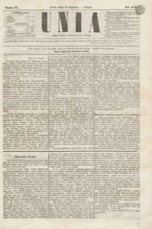 Unia. [R.2], nr 70 (11 czerwca 1870)