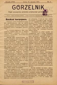 Gorzelnik : organ poświęcony polskiemu przemysłowi gorzelniczemu. R. 18, 1905, nr2