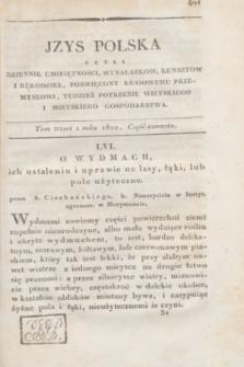 Izys Polska czyli Dziennik umieiętności, wynalazków, kunsztów i rękodzieł, poświęcony Kraiowemu przemysłowi, tudzież potrzebie wieyskiego i mieyskiego gospodarstwa. T.3, część 4 (1822) + dod.