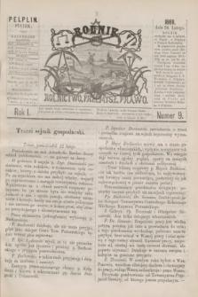 Rolnik : rolnictwo, przemysł, prawo. R.1, nr 9 (26 lutego 1869)