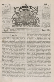 Rolnik : rolnictwo, przemysł, prawo. R.1, nr 46 (12 listopada 1869)