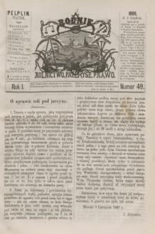 Rolnik : rolnictwo, przemysł, prawo. R.1, nr 49 (3 grudnia 1869)