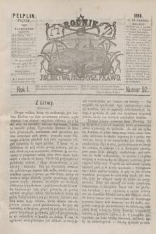 Rolnik : rolnictwo, przemysł, prawo. R.1, nr 52 (24 grudnia 1869)