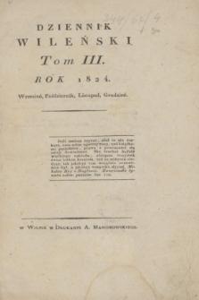 Dziennik Wileński. T.3, Rejestr Materyy Tomu IIIgo (wrzesień, październik, listopad, grudzień 1824)