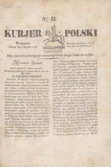 Kurjer Polski. 1830, Nro 33 (5 stycznia)