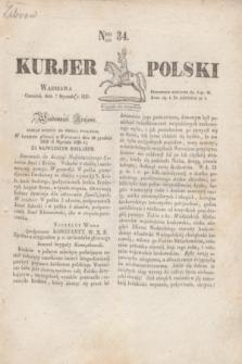 Kurjer Polski. 1830, Nro 34 (7 stycznia)