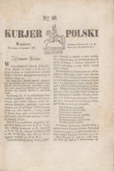 Kurjer Polski. 1830, Nro 40 (13 stycznia)