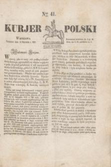 Kurjer Polski. 1830, Nro 41 (14 stycznia)