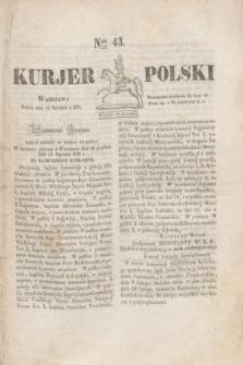 Kurjer Polski. 1830, Nro 43 (16 stycznia) + dod.