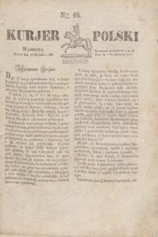 Kurjer Polski. 1830, Nro 46 (19 stycznia)