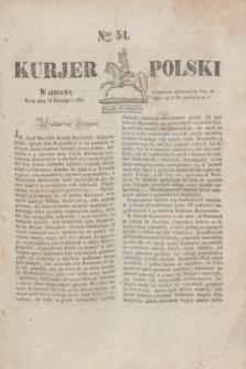 Kurjer Polski. 1830, Nro 54 (27 stycznia)