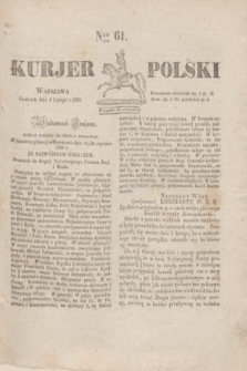 Kurjer Polski. 1830, Nro 61 (4 lutego)