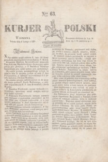 Kurjer Polski. 1830, Nro 63 (6 lutego)