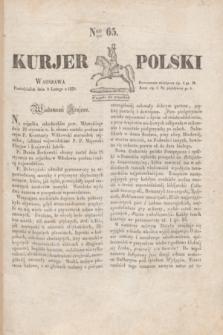 Kurjer Polski. 1830, Nro 65 (8 lutego)