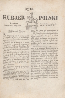 Kurjer Polski. 1830, Nro 68 (11 lutego)