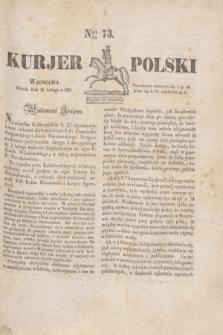 Kurjer Polski. 1830, Nro 73 (16 lutego)