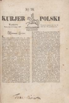 Kurjer Polski. 1830, Nro 76 (19 lutego)