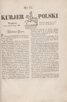 Kurjer Polski. 1830, Nro 77 (20 lutego)