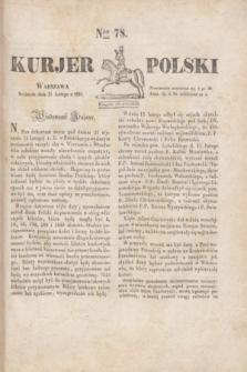 Kurjer Polski. 1830, Nro 78 (21 lutego)