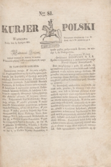Kurjer Polski. 1830, Nro 81 (24 lutego)
