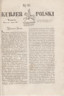 Kurjer Polski. 1830, Nro 87 (2 marca)