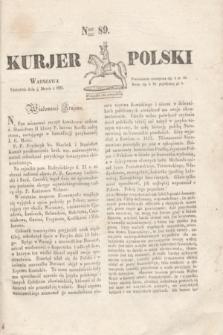 Kurjer Polski. 1830, Nro 89 (4 marca)