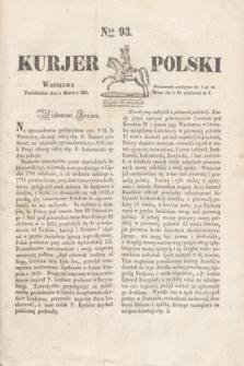 Kurjer Polski. 1830, Nro 93 (8 marca)