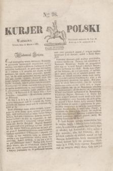 Kurjer Polski. 1830, Nro 98 (13 marca)