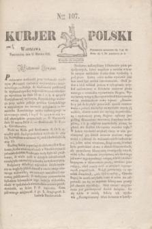 Kurjer Polski. 1830, Nro 107 (22 marca)