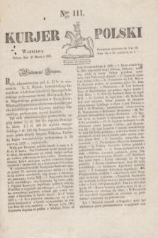 Kurjer Polski. 1830, Nro 111 (27 marca)