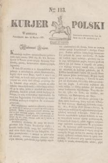 Kurjer Polski. 1830, Nro 113 (29 marca)