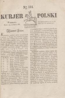 Kurjer Polski. 1830, Nro 114 (30 marca)