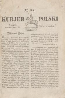 Kurjer Polski. 1830, Nro 115 (31 marca)