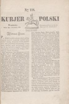 Kurjer Polski. 1830, Nro 118 (3 kwietnia)