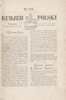 Kurjer Polski. 1830, Nro 119 (4 kwietnia)