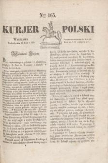 Kurjer Polski. 1830, Nro 165 (23 maja)
