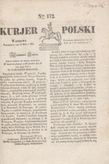 Kurjer Polski. 1830, Nro 172 (31 maja)