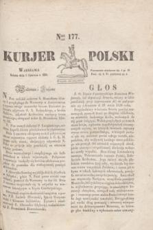Kurjer Polski. 1830, Nro 177 (5 czerwca)