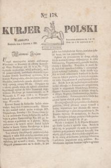 Kurjer Polski. 1830, Nro 178 (6 czerwca)