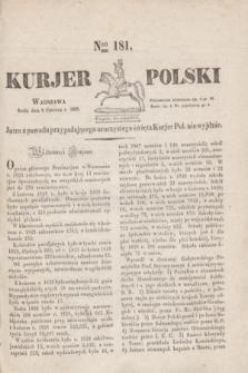 Kurjer Polski. 1830, Nro 181 (9 czerwca)