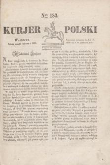 Kurjer Polski. 1830, Nro 183 (12 czerwca)